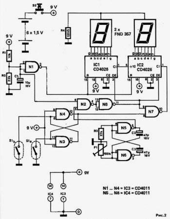 Электрическая схема спидометра для велосипеда