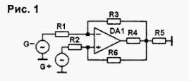 Типовые электрические схемы подключения операционных усилителей (ОУ)