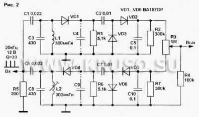 Схемы металлоискателей мостового типа