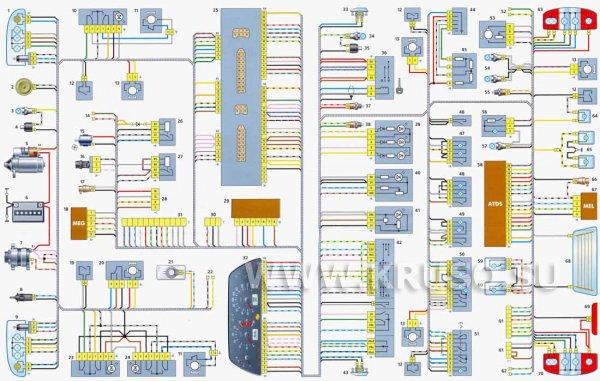 Схема электрооборудования Шевроле Нива (Chevrolet Niva)