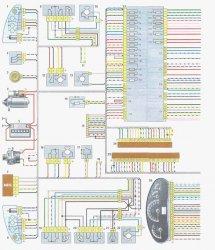 Схема электрооборудования ВАЗ-1118 «Калина»