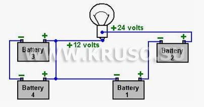 Как зарядить 4 аккумулятора?