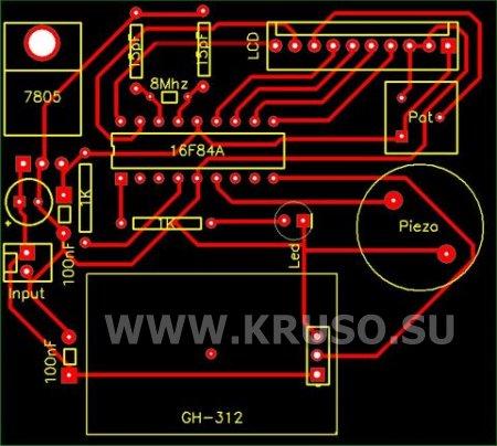 Детектор газа на датчике GH-312
