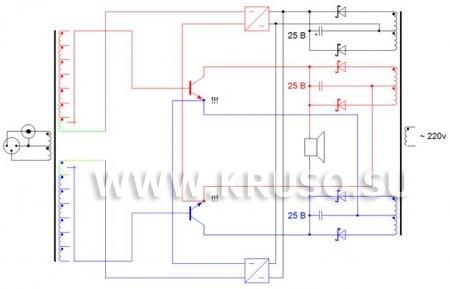 Цирклотрон на двух транзисторах