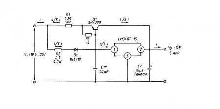 Схемы стабилизаторов напряжения на LM340