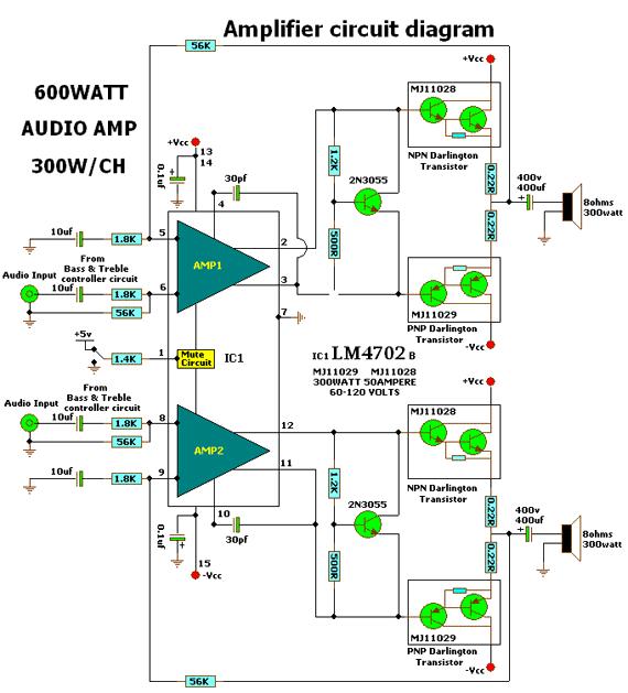 умзч на транзисторах на 30 вт - Практическая схемотехника.