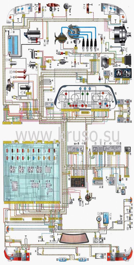 схема автомобилей ВАЗ-2110