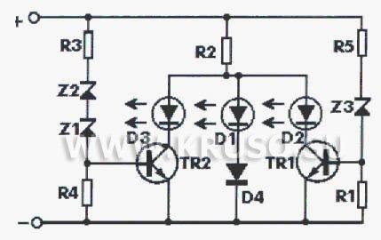Схема индикатора на светодиодах фото 397