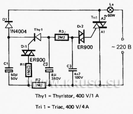 Принципиальная схема электрокамина