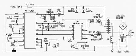 ...УНЧ с выходной мощностью до 60-70W, выполненный...