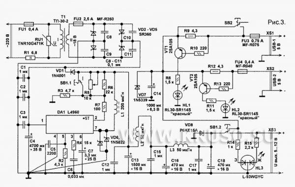 схемы бп для ноутбуков - Практическая схемотехника.