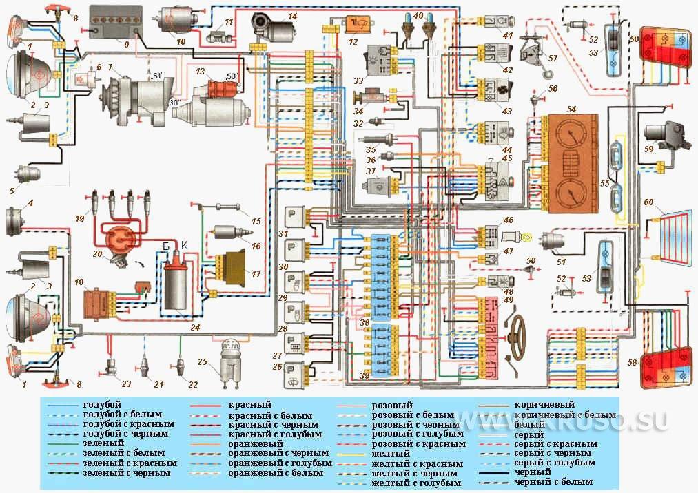 схем ВАЗ 2121: