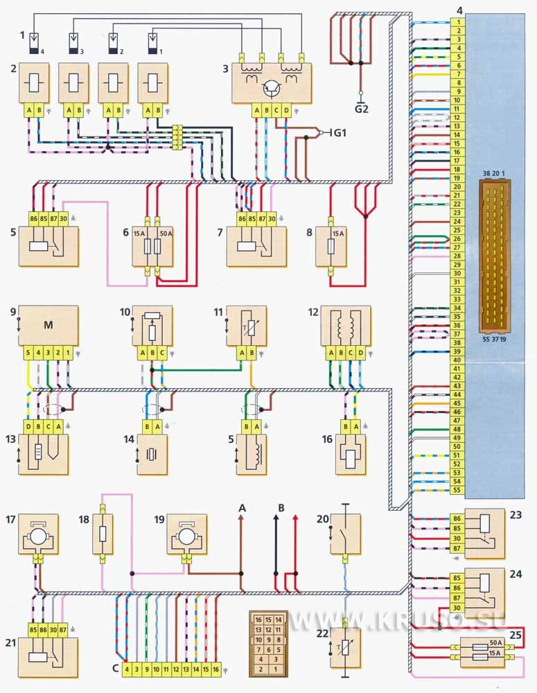 Схема электрооборудования Шевроле Нива (Chevrolet Niva) .