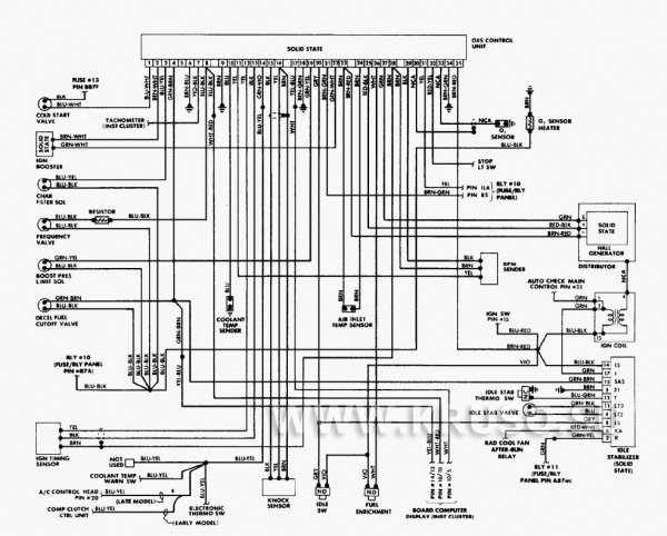 DataLife Engine Версия для печати Схема электропроводки и электрооборудования автомобиля Ауди 200 (86 г.) 5000CS.