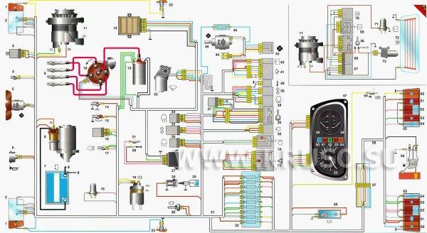 Заз 1102 схема электрооборудования