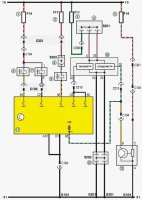 Электрическая схема системы управления двигателем Шевроле Ланос (Chevrolet Lanos)