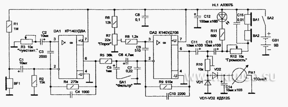 Схема термометров на микросхеме Измерения линий связи переменным и постоянным током поиск повреждений на кабельных...