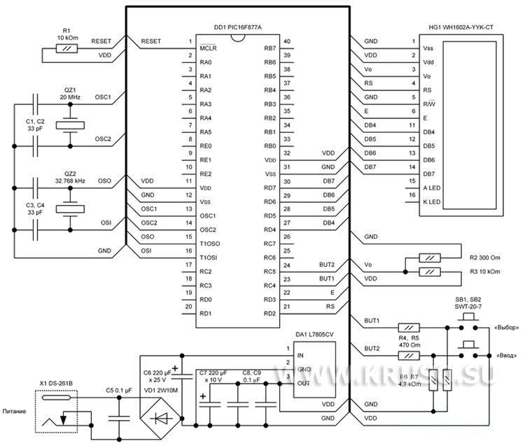 простая электронная схема