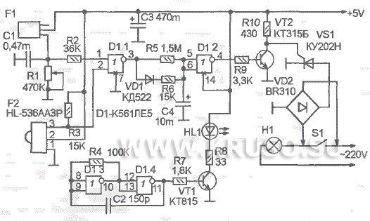 Схема включения датчиков движения освещения в подъездов.  Блок-схема циклического алгоритма со счетчиком.