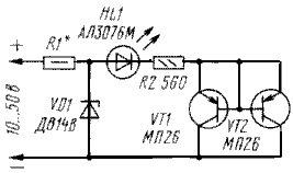 Индикатор перегрева теплоотвода